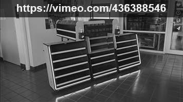 meuble de caisse CJS PLV